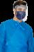 Face Protection Fun Work Azul