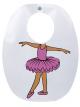 Babador Impermeável Infantil Bailarina Lilás