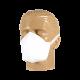 Máscara Descartável Branca Cone de Amarrar - 10 Unidades